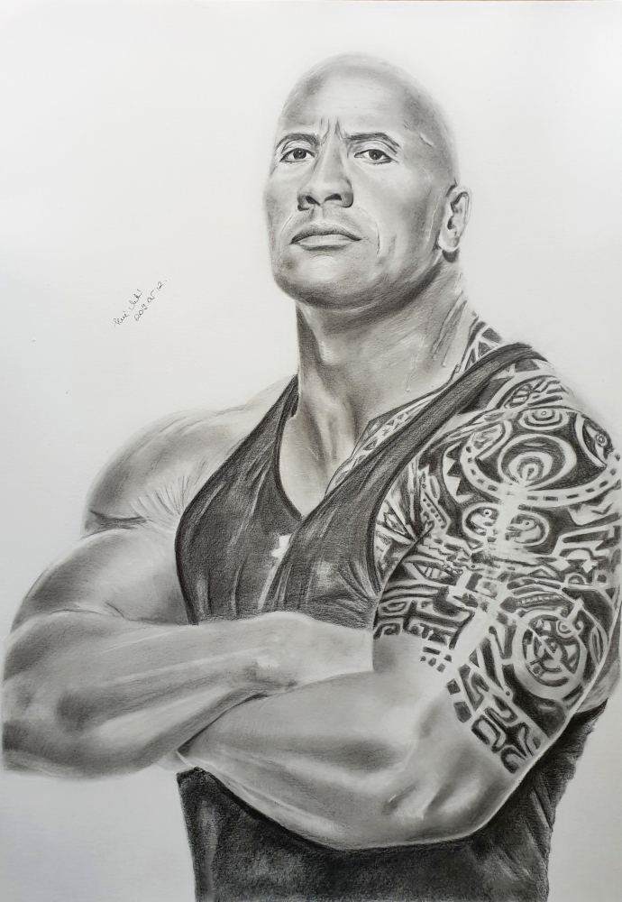 Dwayne Johnson by mklari77